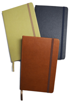 Faux leather journals in assortment of colors